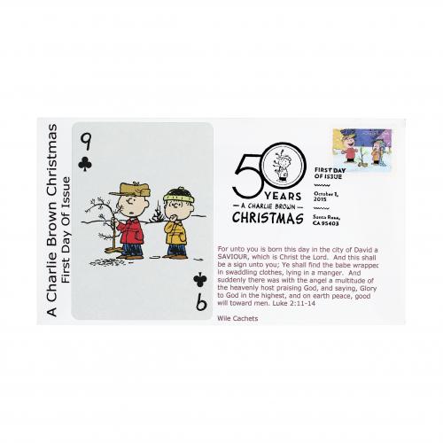 Charlie Brown Linus 9 of Clubs U.S. Postal Cover