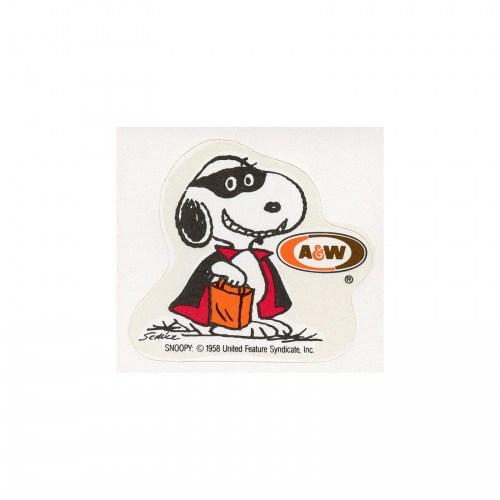 Vintage Snoopy A&W Root Beer Sticker