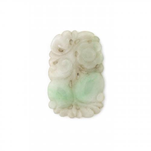 Antique Carved Jadeite Jade Pendant