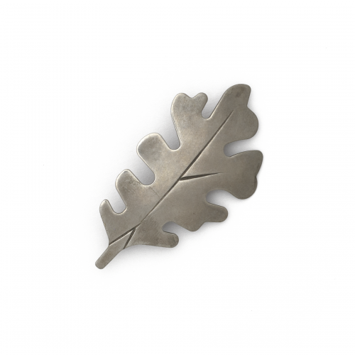 Silver Toned Leaf Brooch