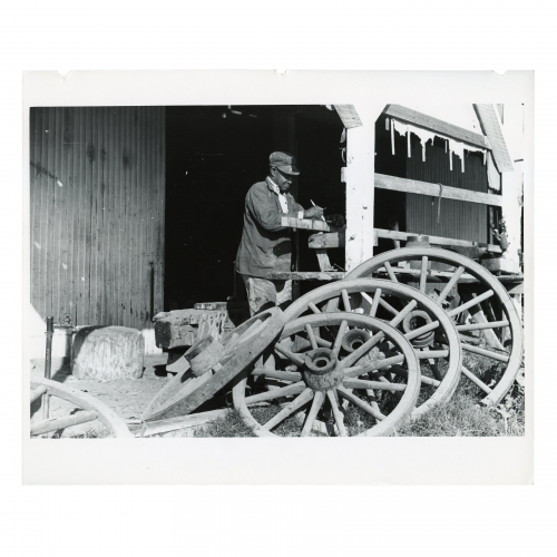 Uncle George who has worked in the blacksmith and carpentry shop on Marcella Plantation ever since he left prison fifty years ago. Mileston, Mississippi Delta, Mississippi 1939 Oct