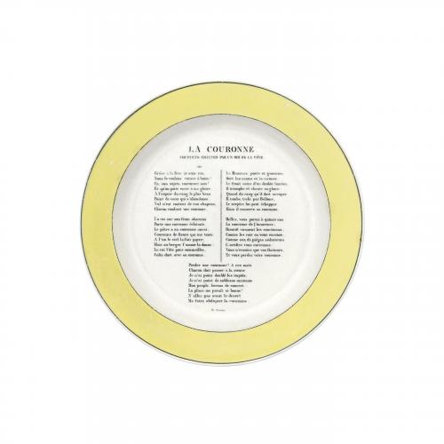 La Couronne French Decorative Plate