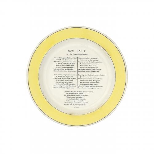 Mon Habit French Creil Montereau Decorative Plate