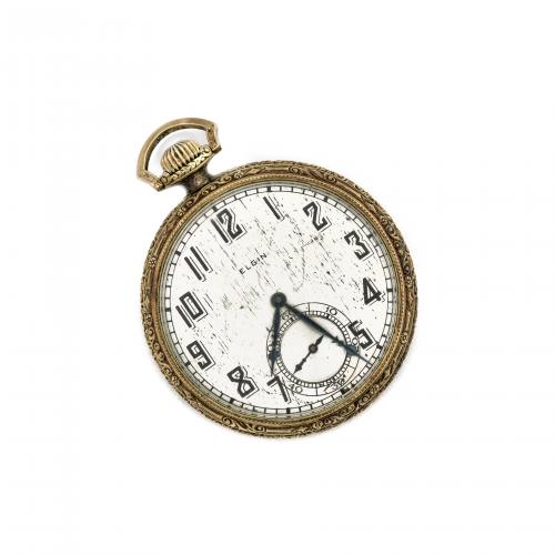 Antique Elgin 15 Jewels Open Face Pocket Watch