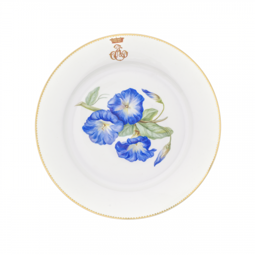 French Sevres Porcelain China Painted Plate