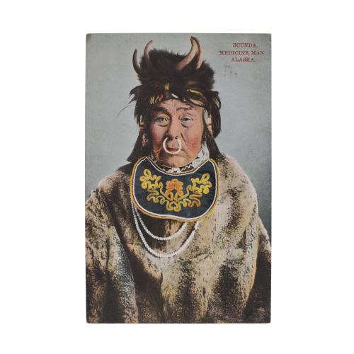 Scunda Medicine Man Alaska Vintage Postcard