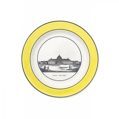 Ecole Militaire French Creil Plate