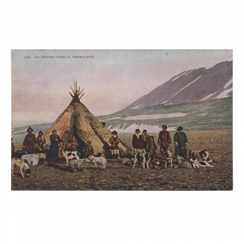 Eskimo Family Greenland Vintage Postcard