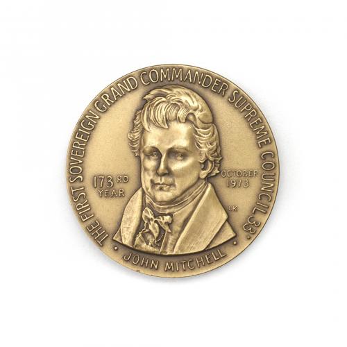 John Mitchell Freemason Supreme Council Coin