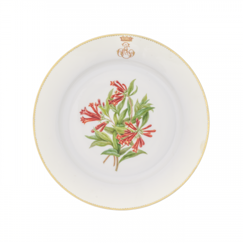 Serves French Porcelain Wild Flowers Plate