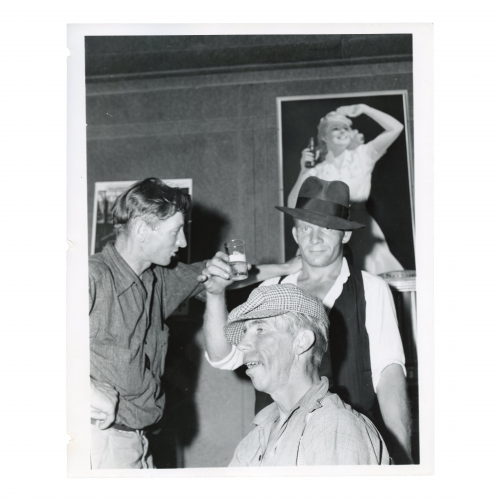 John Vachon , 1914-1975, photographer - Men in beer parlor at Finnish settlement of Bruce Crossing, Michigan - 1941 Aug