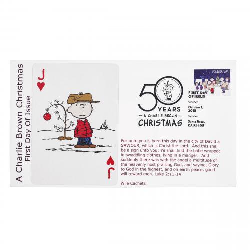 Charlie Brown Jack of Hearts Postal Cover