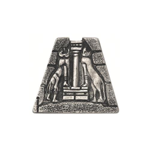 Vintage Greek Zolotas Silver Brooch Pin