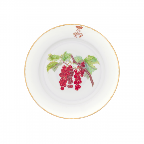 Sevres Porcelain Grapes Fruit Plate