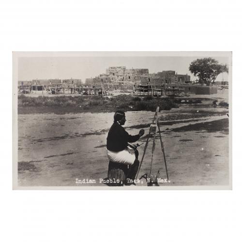 Indian Pueblo Taos New Mexico Vintage Postcard