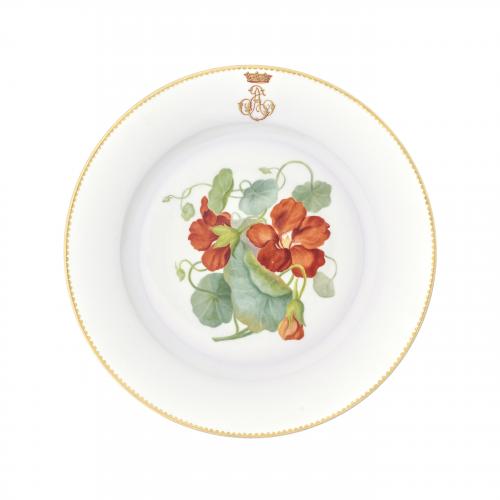 French Antique Sevres Porcelain Decorative Plate