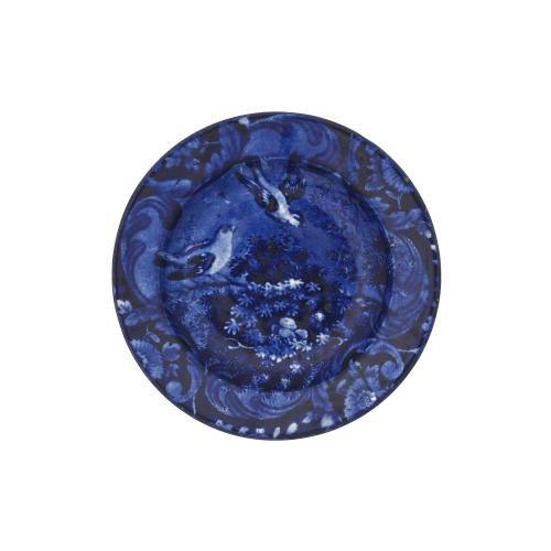 Blue Transferware Staffordshire Pottery Dish