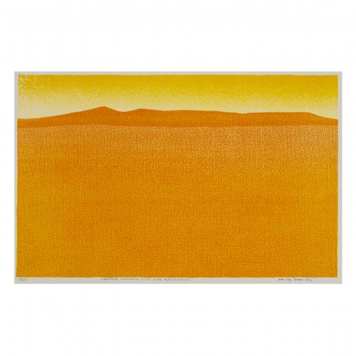 Orange Mountain View Art Print