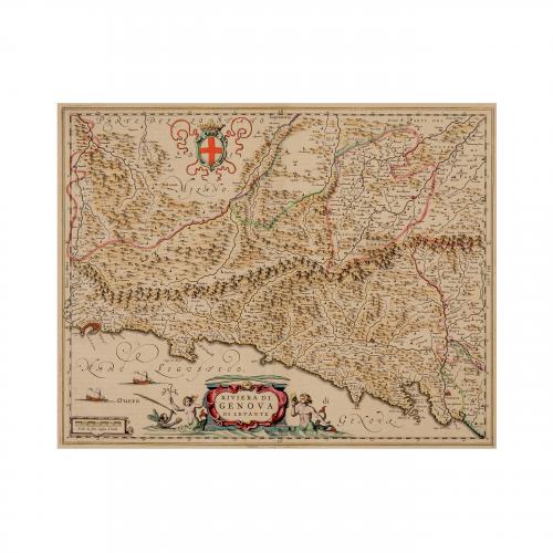 Italian Riviera Old Map