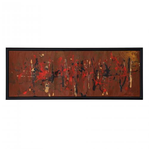 Vintage Abstract Splash Panel Painting