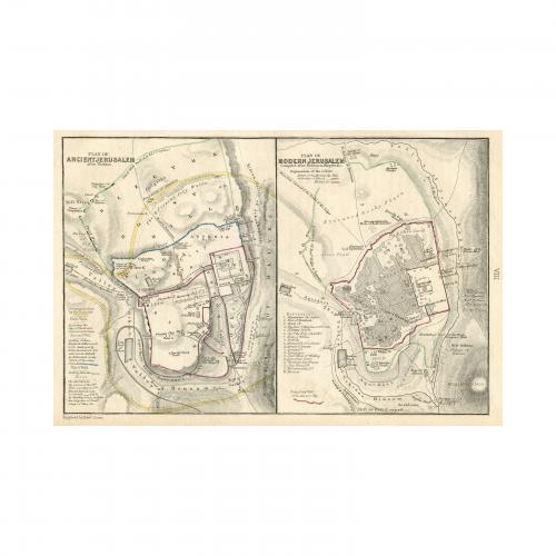 Plan of Ancient Jerusalem Plan of Modern Jerusalem