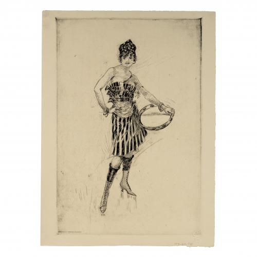 Art Deco Dancer Print
