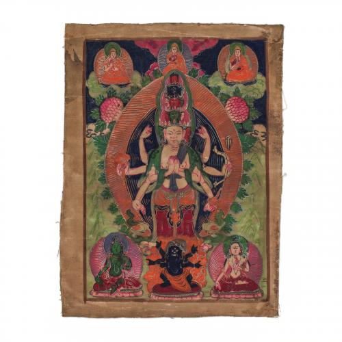 Antique Tibetan Thangka Painting