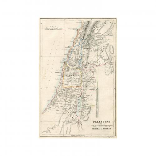 1852 Palestine Syria Map