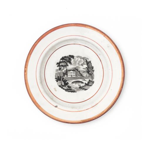 Pink Sunderland Lusterware Wall Plate