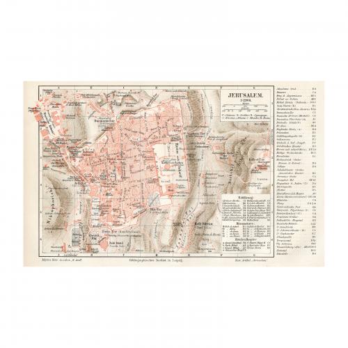 1905 Map of Jerusalem