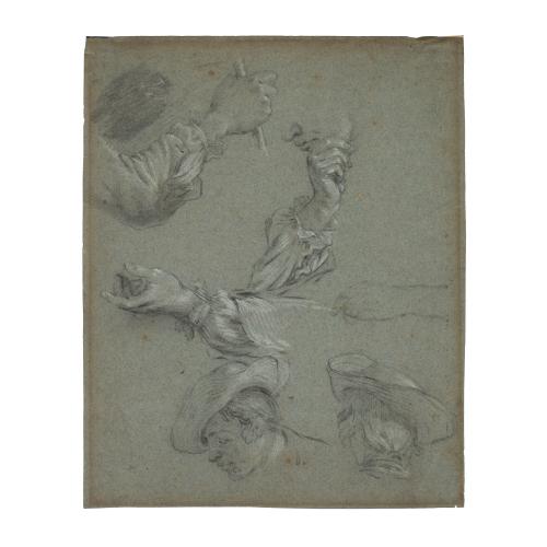 Francisco Bayeu y Subias Portrait Studies Drawing