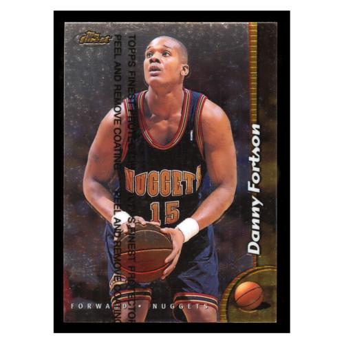 Danny Fortson 1999 Topps Finest #182 Denver Nuggets Basketball Card