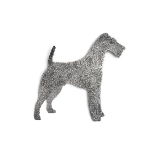 Vintage Silver Plated Schnauzer Dog Brooch