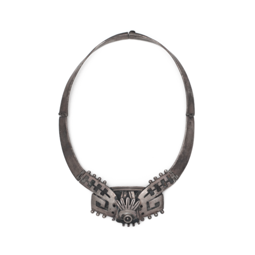 Vintage Mexican Silver Choker Necklace