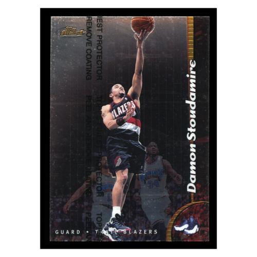 Damon Stoudamire 1999 Topps Finest #195 Portland Trail Blazers Basketball Card