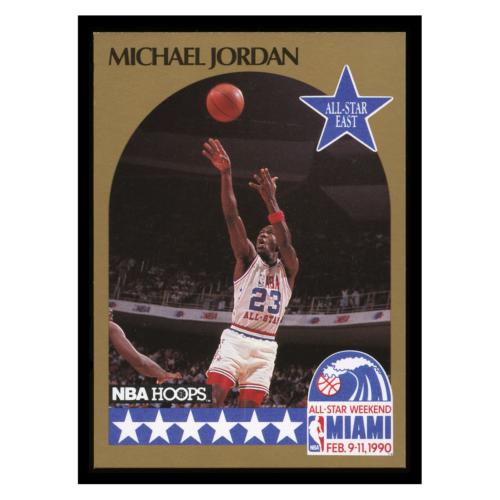 Michael Jordan 1990 NBA Hoops All-Star East #5 #5 Michael Jordan Chicago Bulls Basketball Card