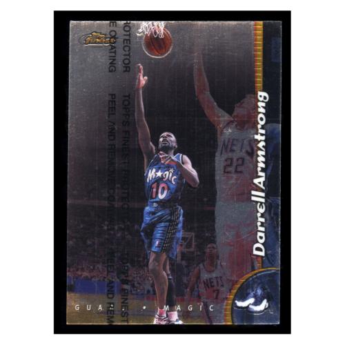 Darrell Armstrong 1999 Topps Finest #179 Orlando Magic Basketball Card