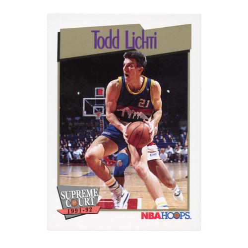 Todd Lichti Supreme Court 1991-92 NBA Hoops