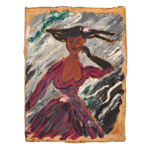 Vintage Post-Impressionist Portrait Painting