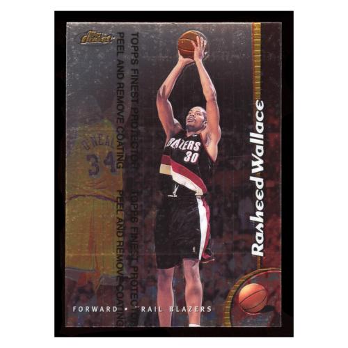 Rasheed Wallace 1999 Topps Finest #188 Portland Trail Blazers Basketball Card