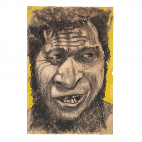 Wild Man Drawing