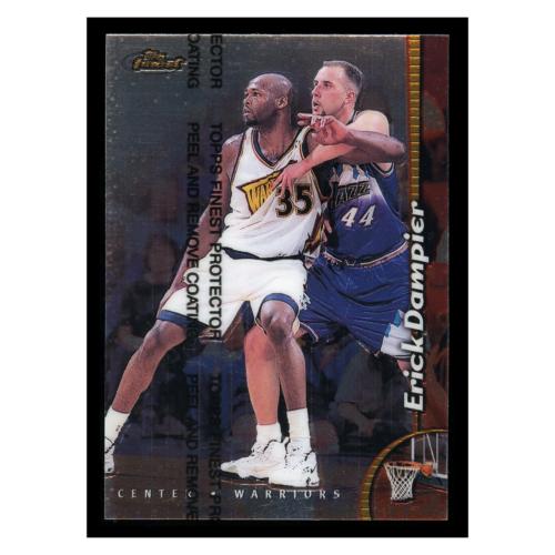 Erick Dampier 1999 Topps Finest #186 Golden State Warriors Basketball Card
