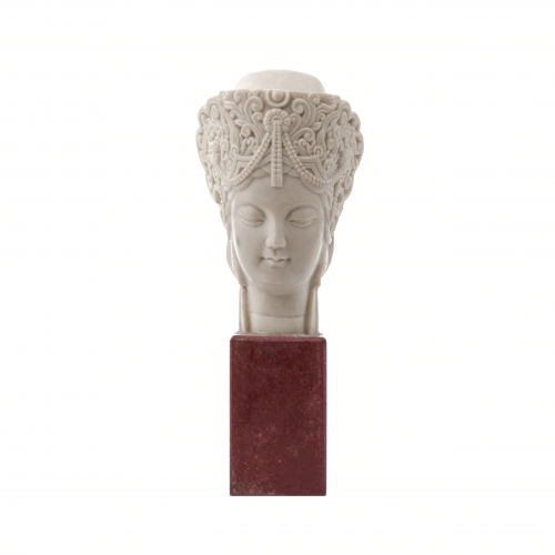 Vintage Buddha Head Table Accent