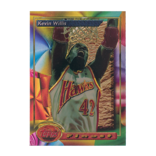 Kevin Willis 1994 Topps Finest Refractor Basketball Card