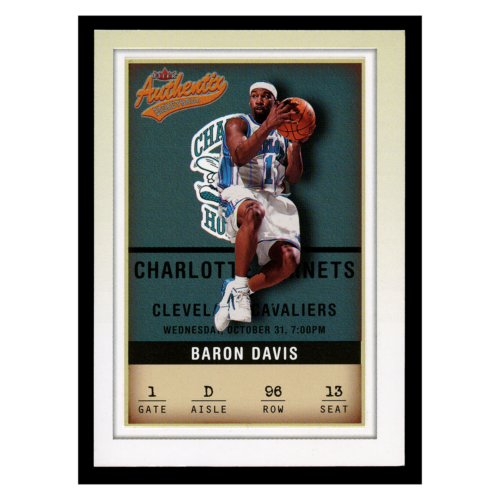 Baron Davis 01-02 Fleer Authentix Basketball