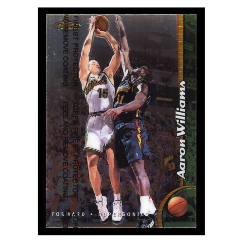 Aaron Williams 1999 Topps Finest #189 Seattle Supersonics Basketball Card