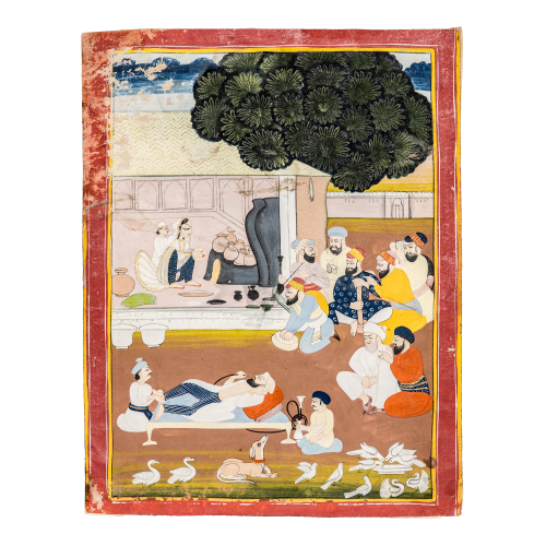 Mughal Style Indian Court Painting