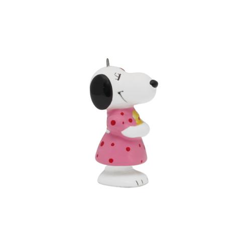 Girl Snoopy Japanese Porcelain Christmas Ornament