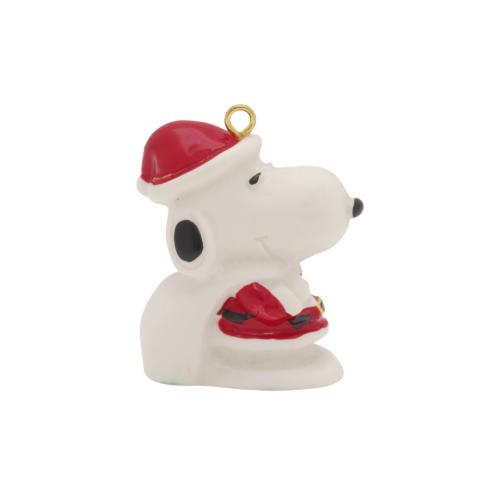 Vintage Miniature Snoopy Santa Christmas Ornament