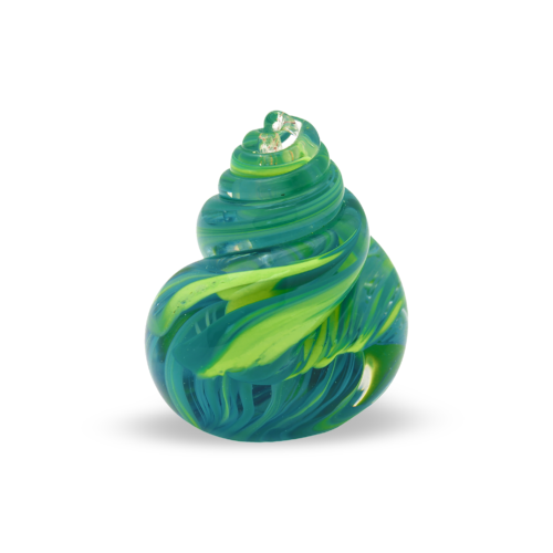 Green Swirl Twisted Glass Paperweight